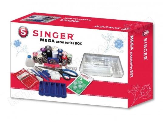 singer mega box d 39 accessoire pour couture pas cher kit de couture livraison gratuite. Black Bedroom Furniture Sets. Home Design Ideas
