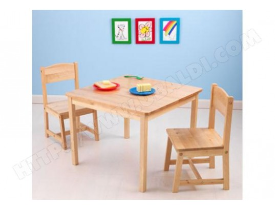Ensemble Table Et Chaise Enfant KIDKRAFT 2 Chaises Aspen Naturel
