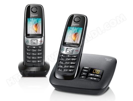 Téléphone sans fil SIEMENS GIGASET C620A Duo noir