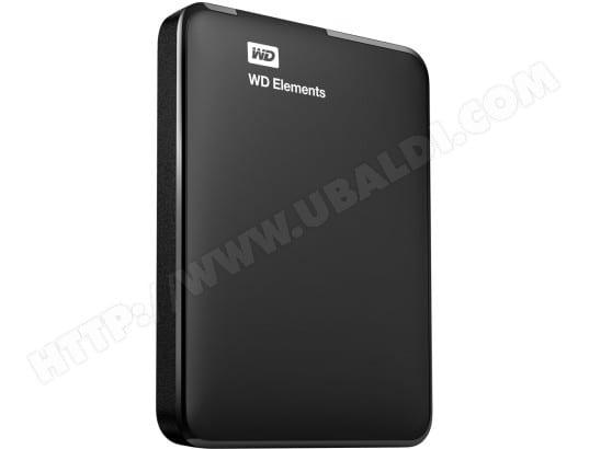 Disque dur externe WESTERN DIGITAL Elements Portable WDBUZG0010BBK 1To USB3.0