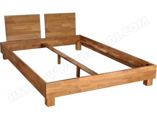cadre de lit ub design lit casta 140x190 pas cher. Black Bedroom Furniture Sets. Home Design Ideas