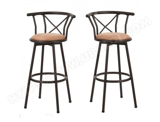 Tabouret De Bar En Metal Style Industriel Pivotant Lot De