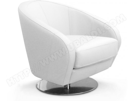 fauteuil poldem camaro fauteuil pivotant cuir blanc pas cher. Black Bedroom Furniture Sets. Home Design Ideas
