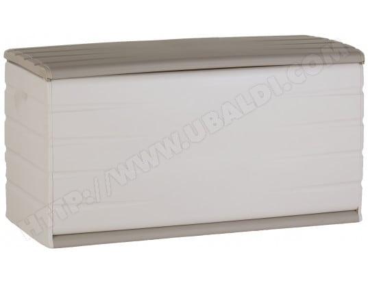 coffre de rangement plastiken 97120 beige et blanc 390. Black Bedroom Furniture Sets. Home Design Ideas