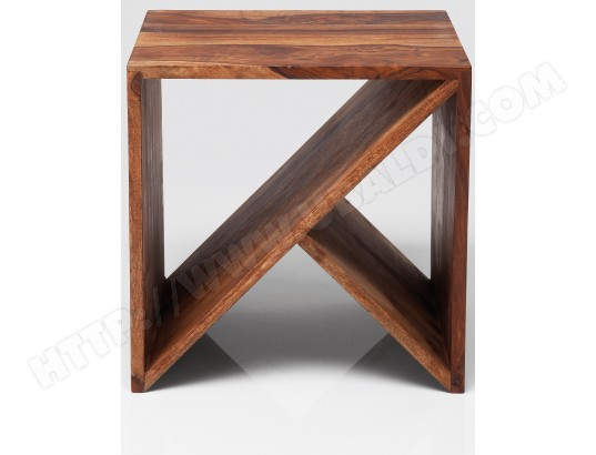 table d 39 appoint kare design zigzag cube eb bois 40x40cm pas cher. Black Bedroom Furniture Sets. Home Design Ideas