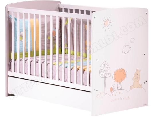 Lit bébé SAUTHON Winnie l\'Ourson lit 120x60 Pas Cher | UBALDI.com