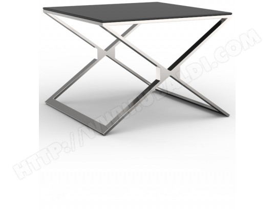 table d 39 appoint ub design bout de canap margaux en verre. Black Bedroom Furniture Sets. Home Design Ideas