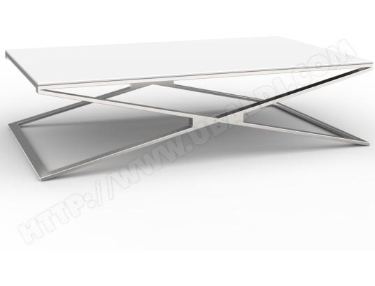 Table Basse Ub Design Table Basse Margaux Inox Et Verre Blanc Pas