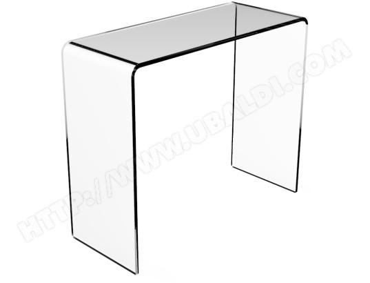 console ub design console morgan en verre tremp crystallin pas cher. Black Bedroom Furniture Sets. Home Design Ideas