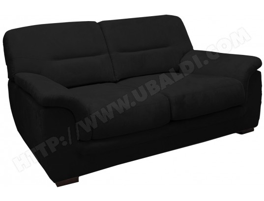 canap microfibre ub design livio 2 places fixe mf noir pas cher. Black Bedroom Furniture Sets. Home Design Ideas