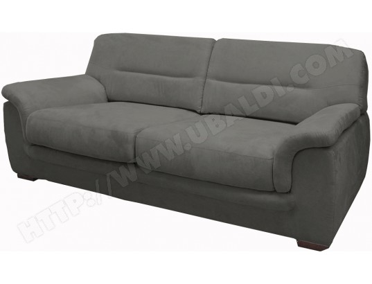 canap microfibre ub design livio 3 places fixe mf gris clair pas cher. Black Bedroom Furniture Sets. Home Design Ideas