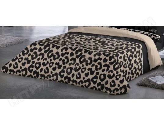 drap housse leopard Housse de couette GEORGE RECH Hdc Léopard beige 260x240 Pas Cher  drap housse leopard