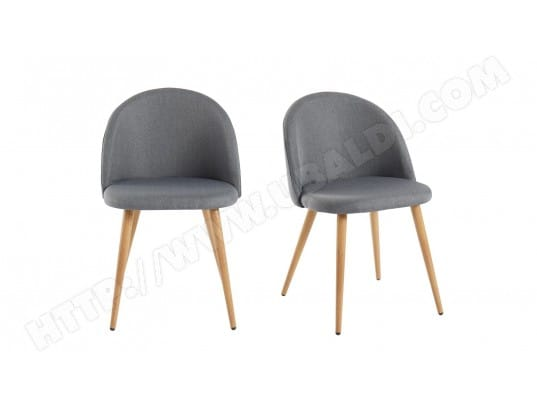 Lot De 2 Chaises Couleur Anthracite