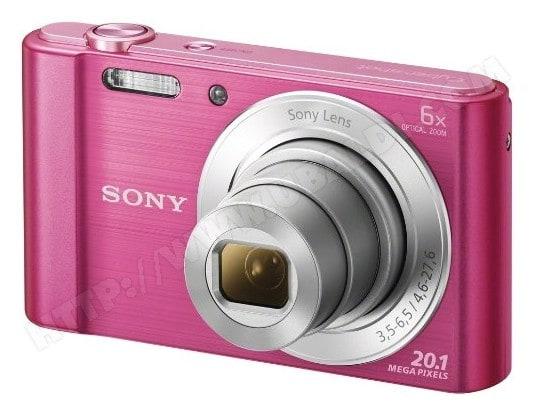 Appareil photo numérique compact SONY CyberShot DSC-W810 rose