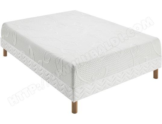 ensemble matelas sommier 160 x 200 pls lit lynda sommier stretch 160x200 pied naturel. Black Bedroom Furniture Sets. Home Design Ideas