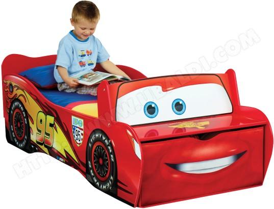 Lit Enfant Room Studio Cars Flash Mc Queen Pour Matelas 140x70