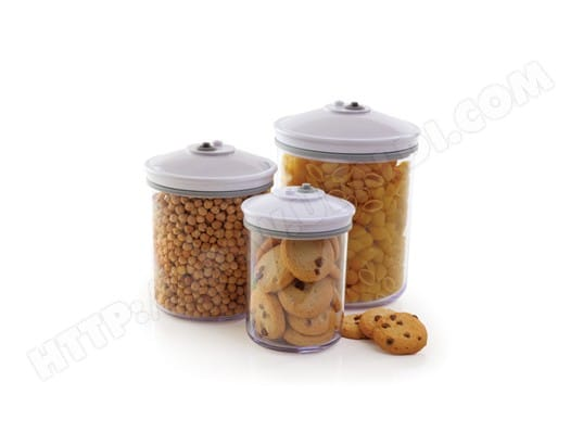 Boîte alimentaire FOOD SAVER FSC003-I 3 bocaux 0.7l/1.42L/2.37L