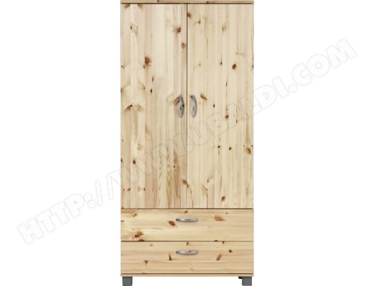 armoire flexa armoire 2 portes vernis naturel pas cher. Black Bedroom Furniture Sets. Home Design Ideas