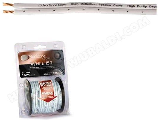 Câble audio NORSTONE Bobine 15 m (1.5 mm²) blanc