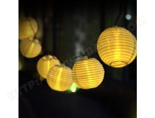 3.3M Guirlande Solaire 20 LED lanterne chinoise, décoration ... on