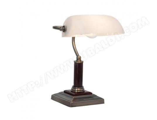 Lampe de bureau en métal et bois avec diffuseur orientable en