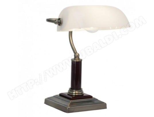 Mazda lampe de bureau en bois et métal opaline quimper enchères
