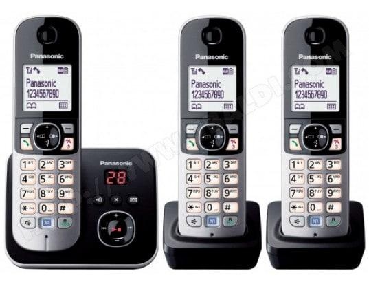 Téléphone sans fil PANASONIC KX-TG6823FRB