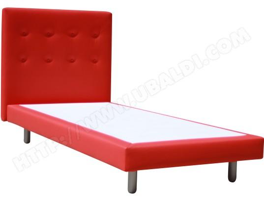 lit d co ub design lit cannes 90x190 rouge pas cher. Black Bedroom Furniture Sets. Home Design Ideas