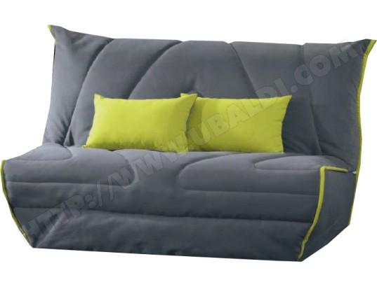 canap lit diva kim bz 140 ardoise anis matelas 35kg m3 pas cher. Black Bedroom Furniture Sets. Home Design Ideas