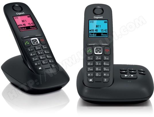 Téléphone sans fil SIEMENS GIGASET A540A Duo noir