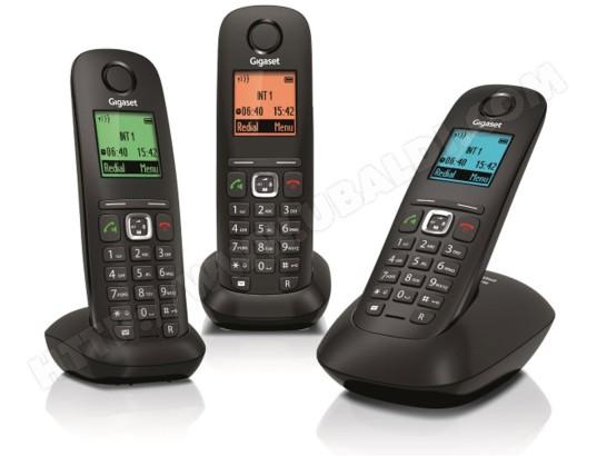 Téléphone sans fil SIEMENS GIGASET A540 Trio noir
