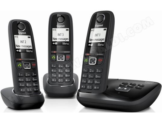 Téléphone sans fil SIEMENS GIGASET AS405A Trio noir