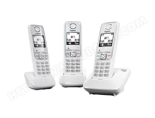Téléphone sans fil SIEMENS GIGASET AS405 Trio blanc