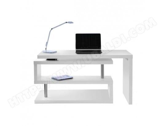 Bureau design blanc mat amovible max miliboo pas cher