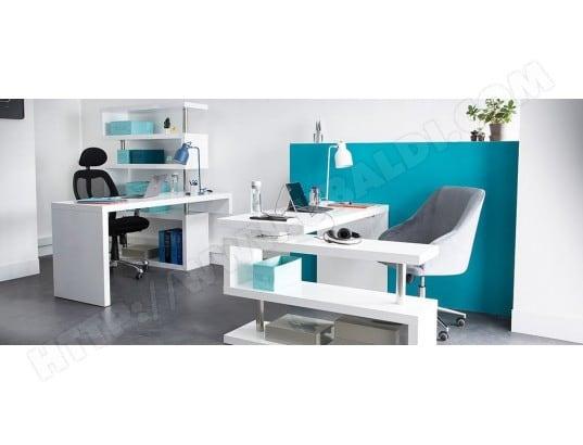 Bureau design blanc mat amovible max miliboo 36232 pas cher ubaldi.com