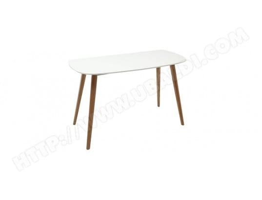 Bureau design cm bois et blanc swift miliboo pas cher