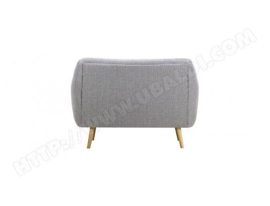 canap design 2 places gris perle pieds bois clair olaf miliboo 40797 - Pied De Canape Design