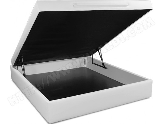 Sommier 160 x 200 UB DESIGN Lit coffre Léo 160x200 blanc