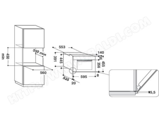 Avis Micro ondes Combiné Encastrable WHIRLPOOL AMW 545 IX : Test ...