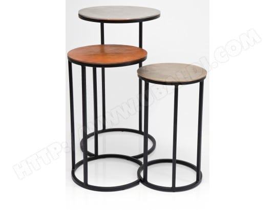 tables gigognes kare design tables gigognes loft rondes pas cher. Black Bedroom Furniture Sets. Home Design Ideas