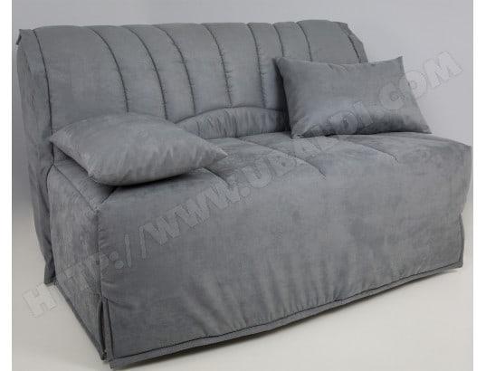 canap lit ub design lila bz 140 mf gris fong matelas 35 kg m3 pas cher. Black Bedroom Furniture Sets. Home Design Ideas