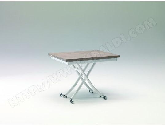 Table Basse Ozzio Mini Long Table Relevable Grise Et Blanche Pas