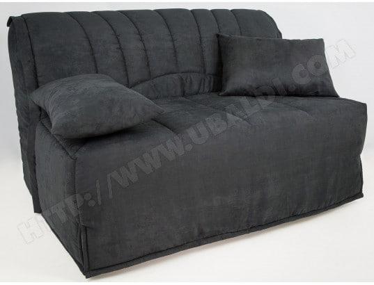 canap lit ub design lila bz 140 mf noir matelas 35 kg m3 pas cher. Black Bedroom Furniture Sets. Home Design Ideas