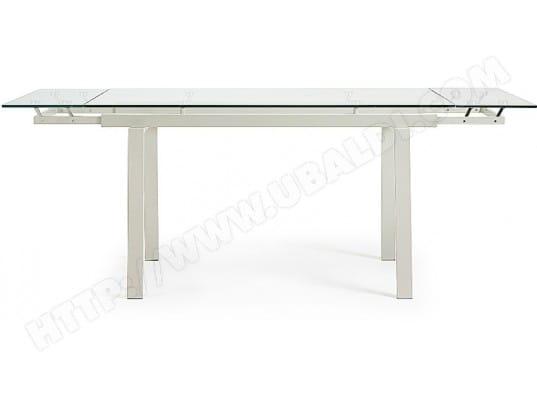 Table de salle à manger LF Ranch 140 200 x 80 verre et métal perle Pas Cher    UBALDI.com dac9b9371da2
