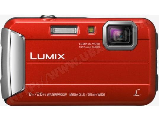 Appareil photo numérique compact PANASONIC Lumix DMC-FT30 rouge