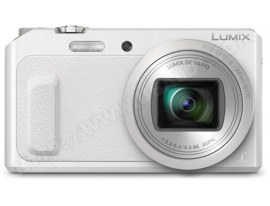 Appareil photo numérique compact PANASONIC Lumix DMC-TZ57 blanc