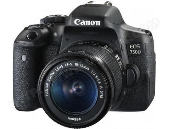 Appareil photo numérique reflex CANON EOS 750D + EF-S 18-55 IS STM