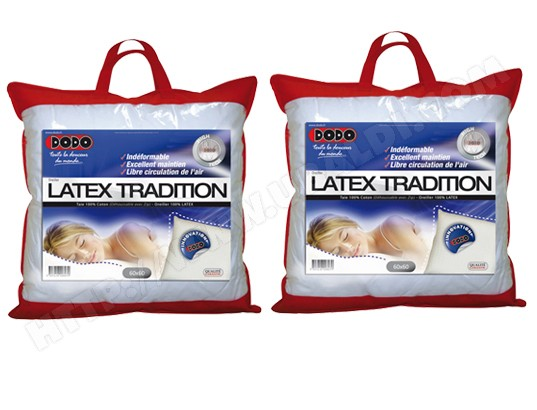 oreiller en latex dodo Test Pack oreiller DODO Latex 60x60 x2 | Critiques et Notes oreiller en latex dodo