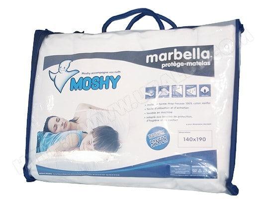 Protège matelas MOSHY Marbella 140x190 bonnet de 30 cm