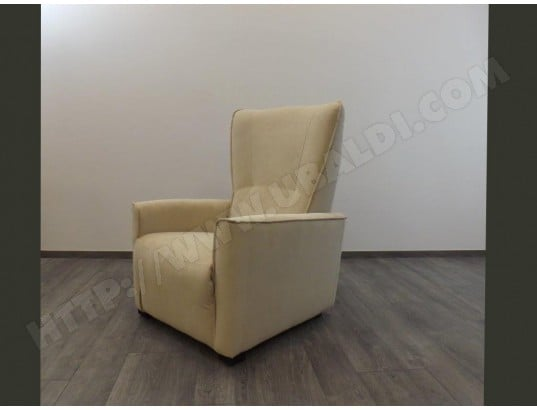Fauteuil Relax Creme.Fauteuil Relaxation Ub Design Marguerite Relax Tissu Creme